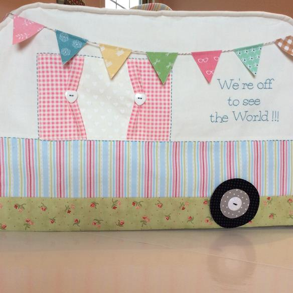 Happy Campers Sewing Machine Cover - Pink Simplicity